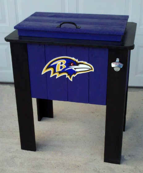 Baltimore Ravens 48 Quart Cedar Cooler